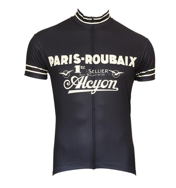 860cd7476 Paris-Roubaix Short Sleeves Retro Cycling Jersey