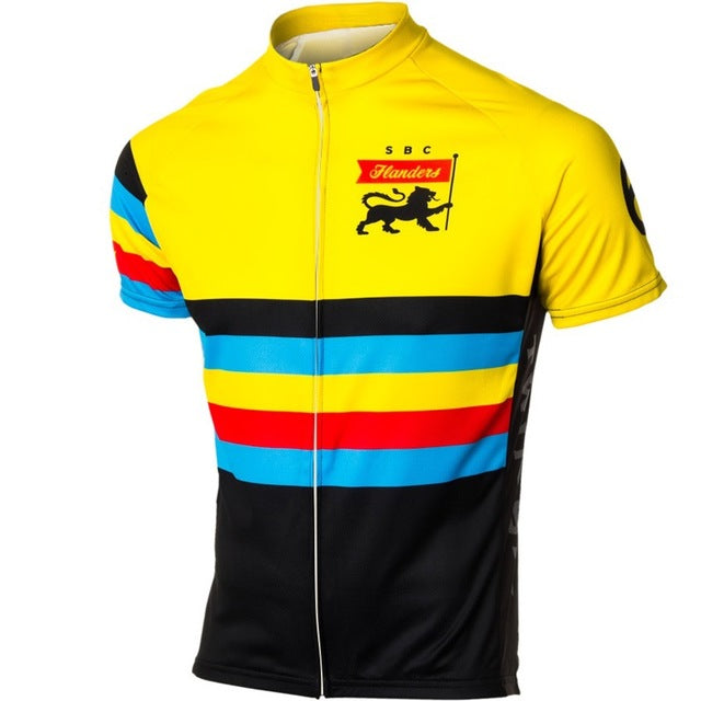 Vintage Pro Bike Teams Short Sleeves Retro Cycling Jersey d8f902856