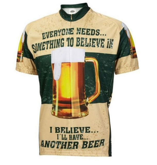 I Believe in Beer Short Sleeves Rebel Cycling Jersey b0082e388