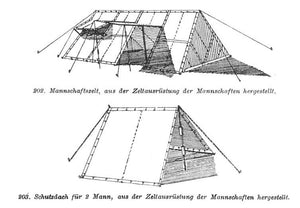 East German Shelter Half Tent-Building Bundle