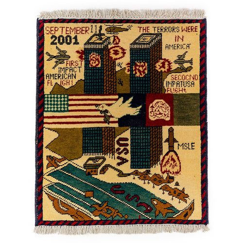 AFGHAN 9/11 PATTERN WAR RUGS