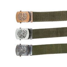 "AUSTRIAN EAGLE EMBLEM 1.25"" CANVAS BELTS"
