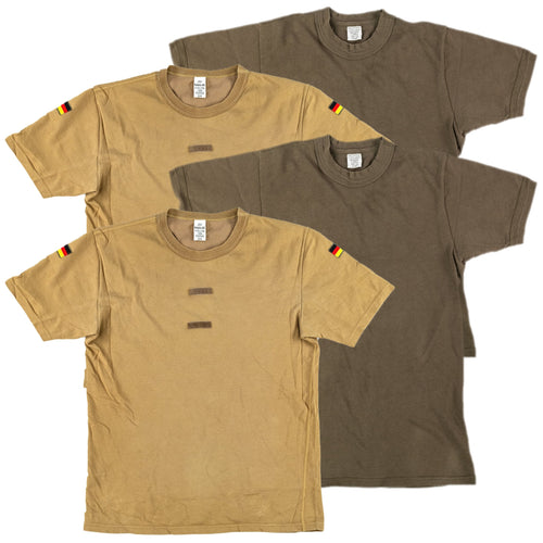 2 EACH BUNDESWEHR OD AND TROPEN TEES