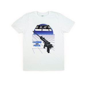 Uzi Carbine and Pistol T-Shirt White