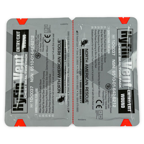 NAR HyFin Vent Chest Seal Twin Pack