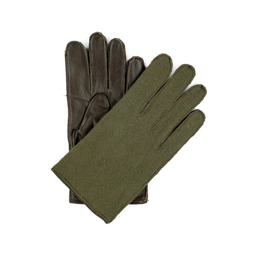 FRENCH WOOL/LEATHER GLOVES