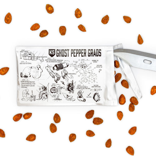 Ivan's Ghost Grads: Mylar Packed Ghost Pepper Almonds