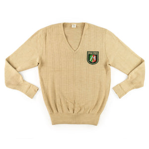 West German Polizei V-Neck Sweater