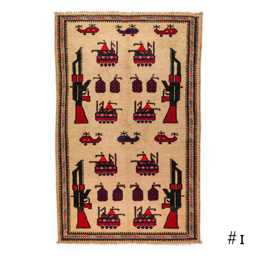 Afghan Large Pattern War Rugs