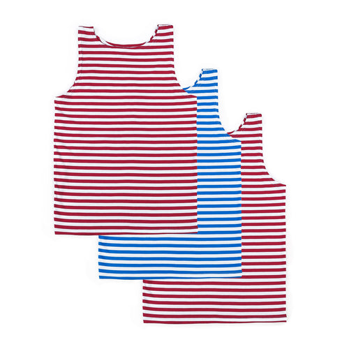 3 PACK RUSSIAN TELNYASHKA STRIPED TANK TOP