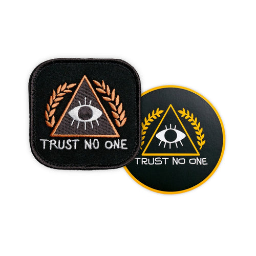 Trust No One Patch & Free Vinyl Sticker
