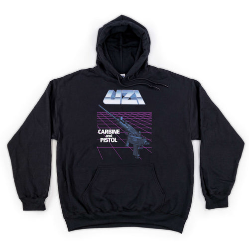 Uzi Carbine and Pistol Hooded Sweatshirt