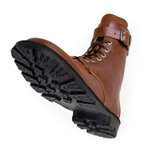 Waxi Boot, Cognac Brown, Lug Sole