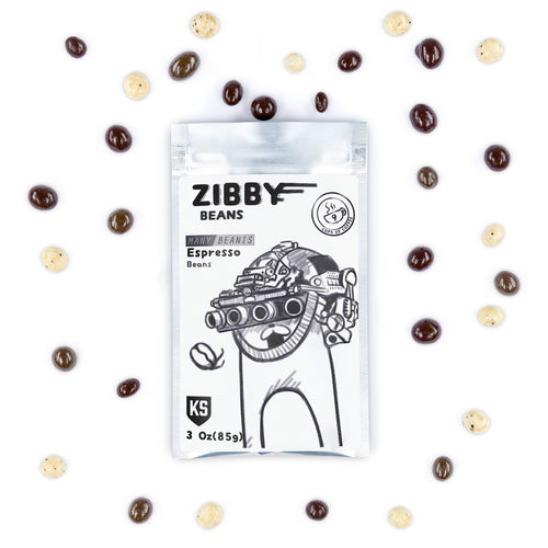 Ivan's Many Beanis Zibby Beans: Chocolate Covered Espresso Beans