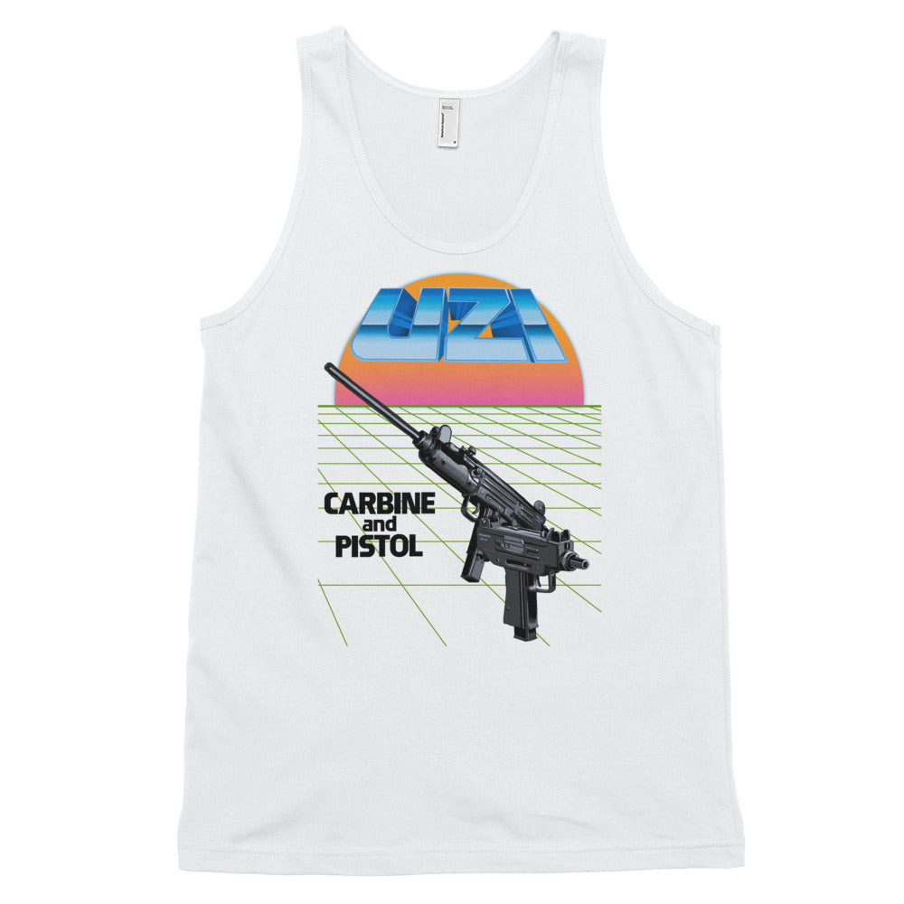 Uzi Carbine and Pistol Tanktop White