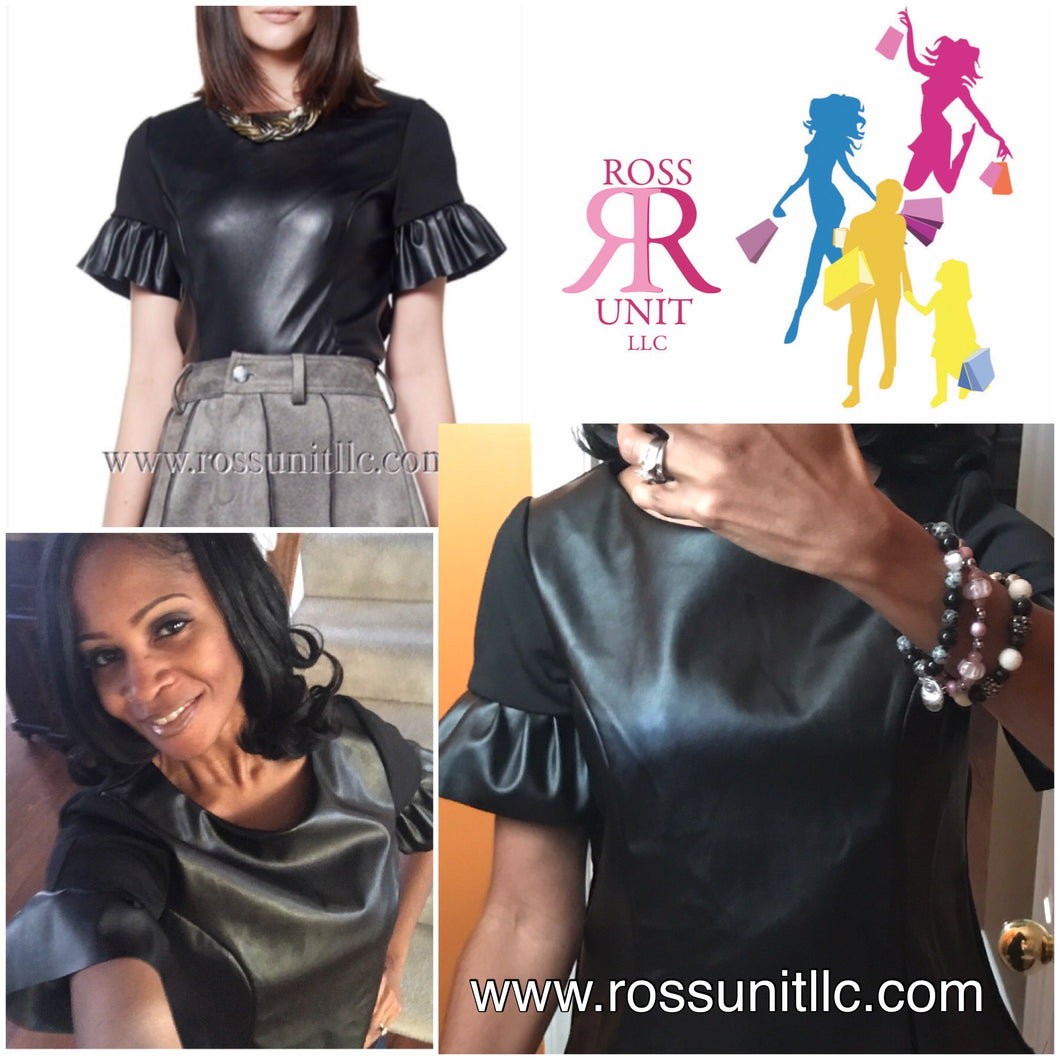 Frill Short Sleeve Top