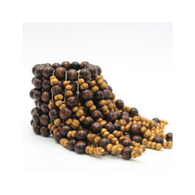 Statement Wood Beaded Fringe Stretch Bracelet