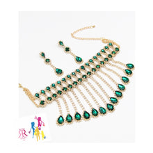 Emerald Green Crystal Choker Set