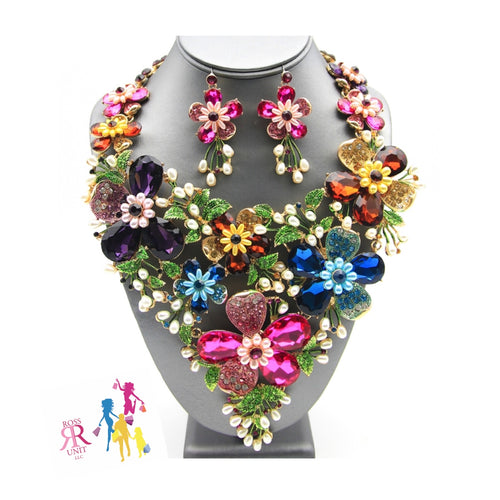 Colorful Statement Crystal Water Flower Set