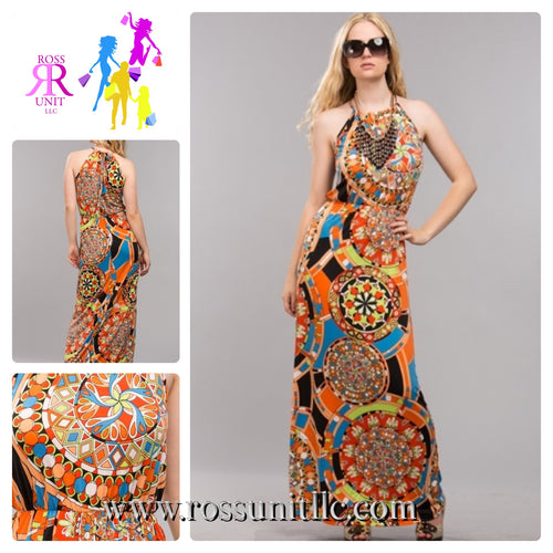 Circles Around You Maxi Dress