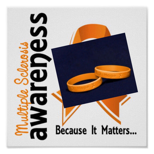 MS Awareness Silicone Bracelet