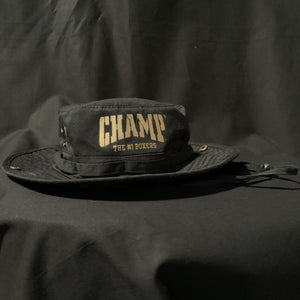 Black and Gold Fisherman Hat