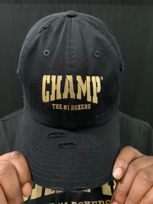 Black and Gold Vintage Hat