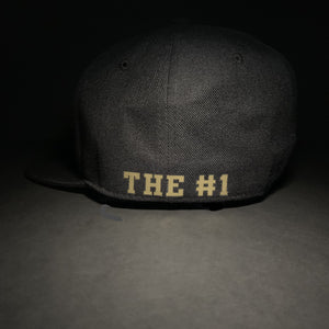 Black and Gold Fitted Hat