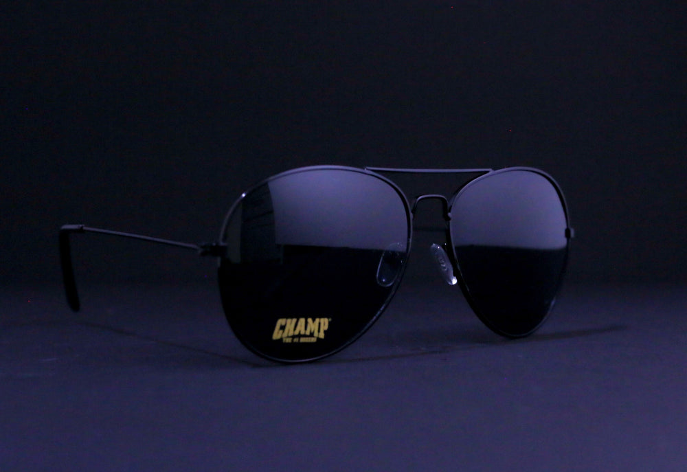 Black Aviator Sunglasses (Plus A FREE T-Shirt)