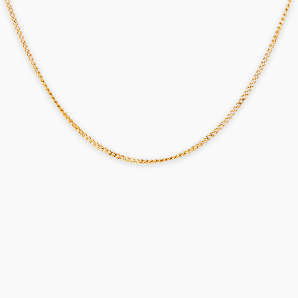 Gold Vermeil Curb Chain