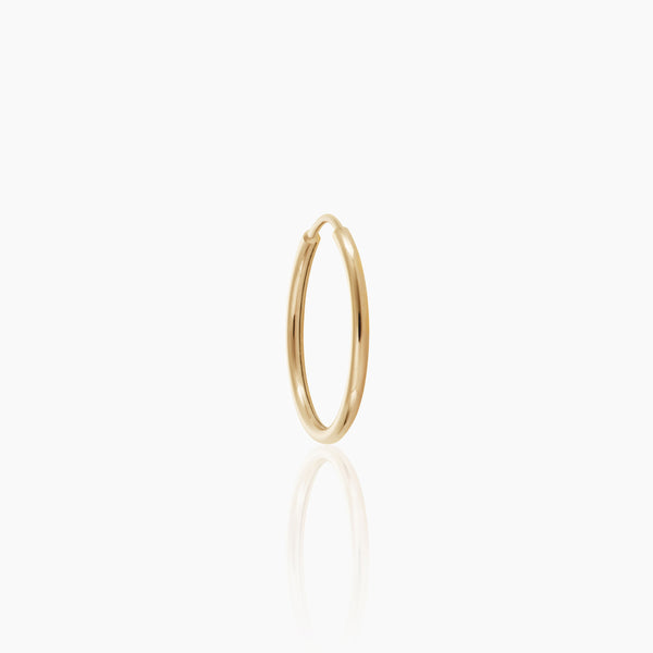 12mm Solid Gold Endless Hoop