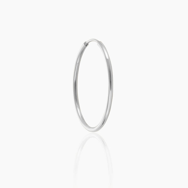 18mm Silver Endless Hoop