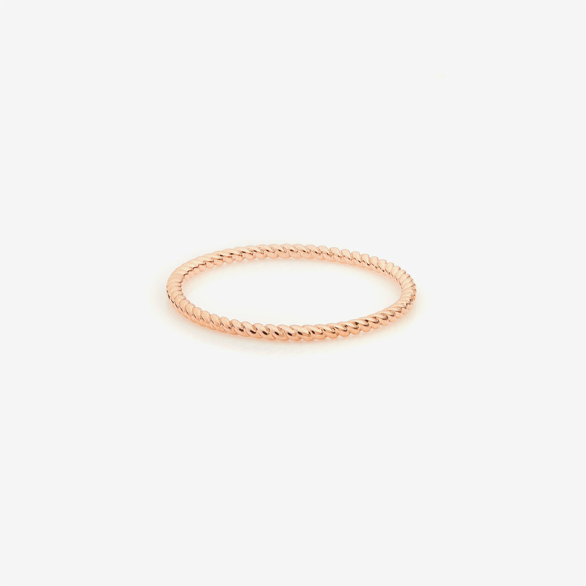 Rose Gold Twisted Thread Ring