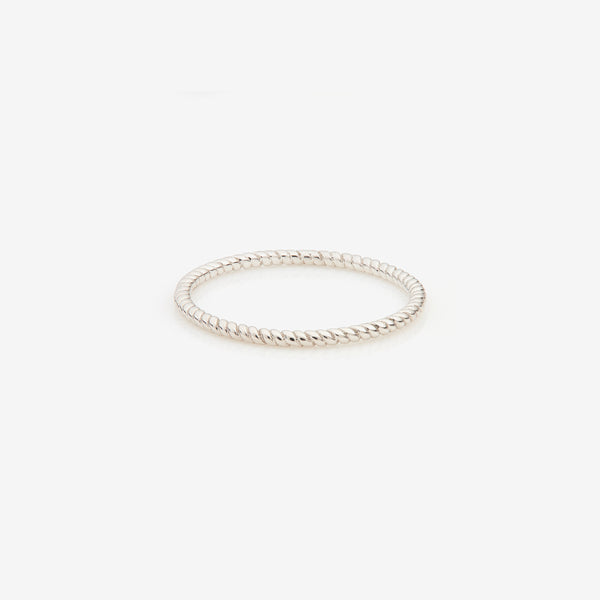 Silver Twisted Thread Ring