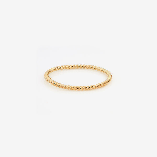 Gold Twisted Thread Ring