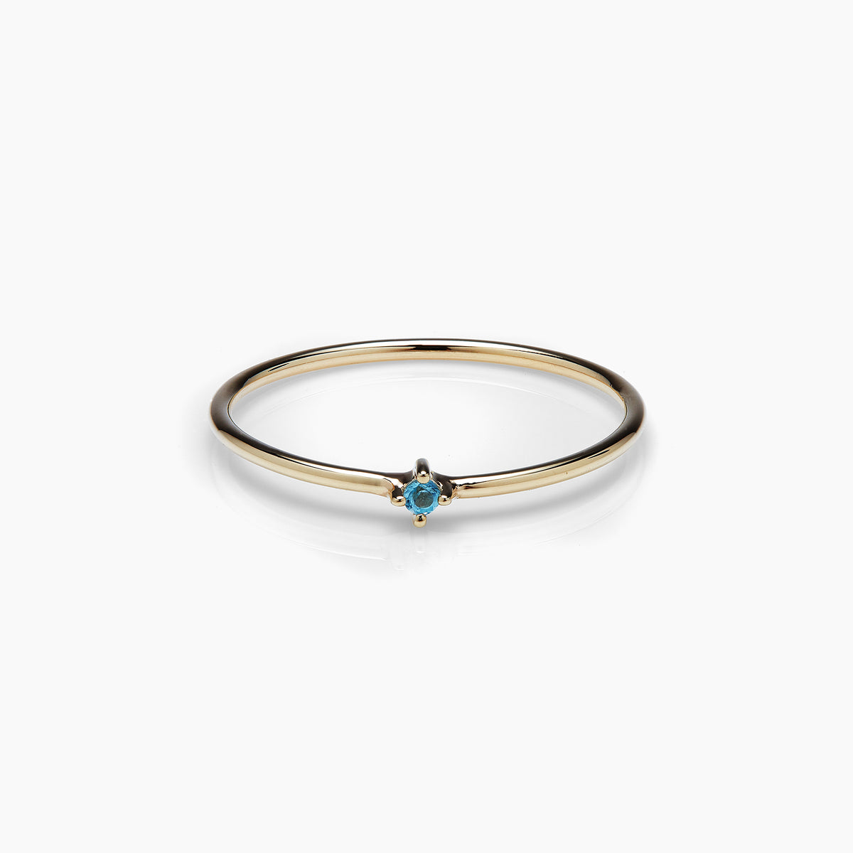 Swiss Blue Topaz Bamboo Ring