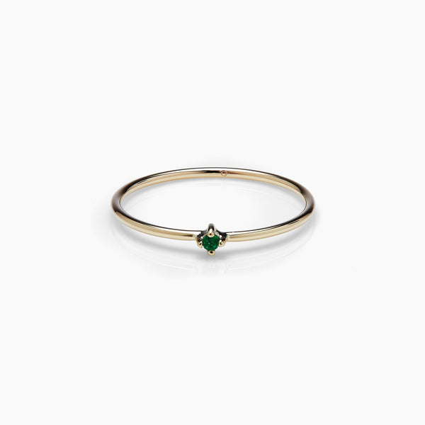 Emerald Bamboo Ring