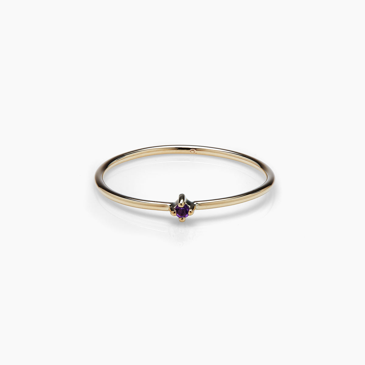 Amethyst Bamboo Ring (Pre-order)