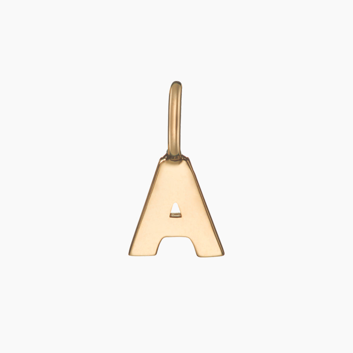 Solid Gold Alphabet Pendant
