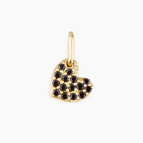 Black Diamond Heart Pendant