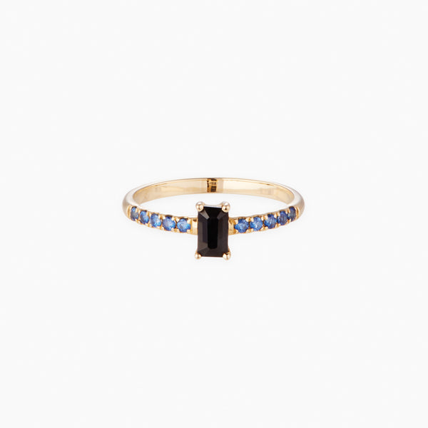 Black and Ceylon Sapphire Ring