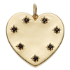 Solid Gold Black Sapphire Heart Pendant