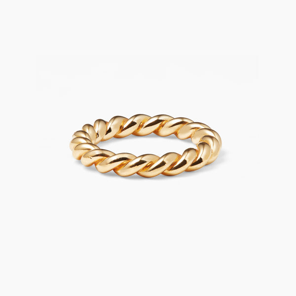 Chunky Gold Twist Ring