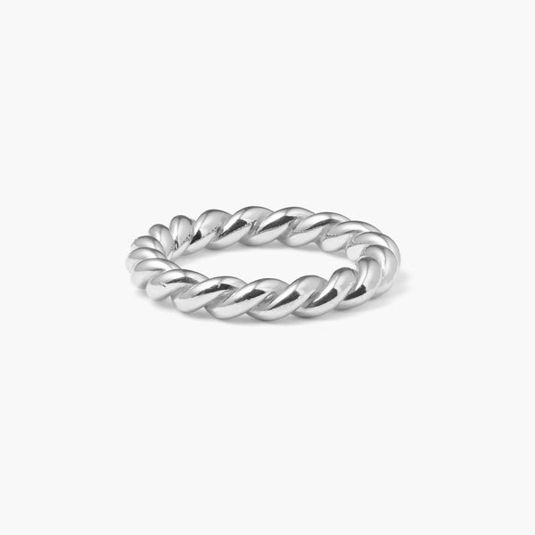 Chunky Silver Twist Ring