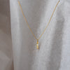 Cable Chain and Vermeil Name Pendant (Made to Order)