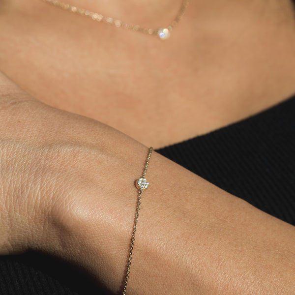 White Diamond Disc Bracelet. Ft Aboveground Diamonds