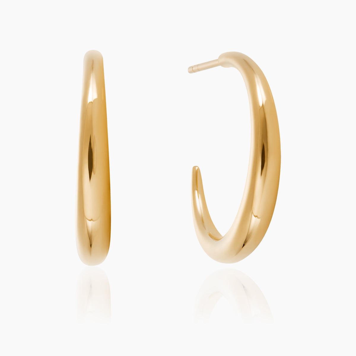Gold Graduated Hoops