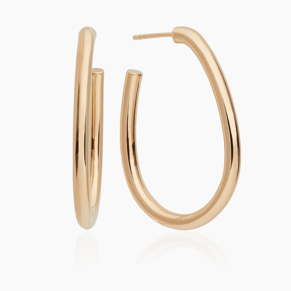 Large Oval Gold Hoops (Pre-order)