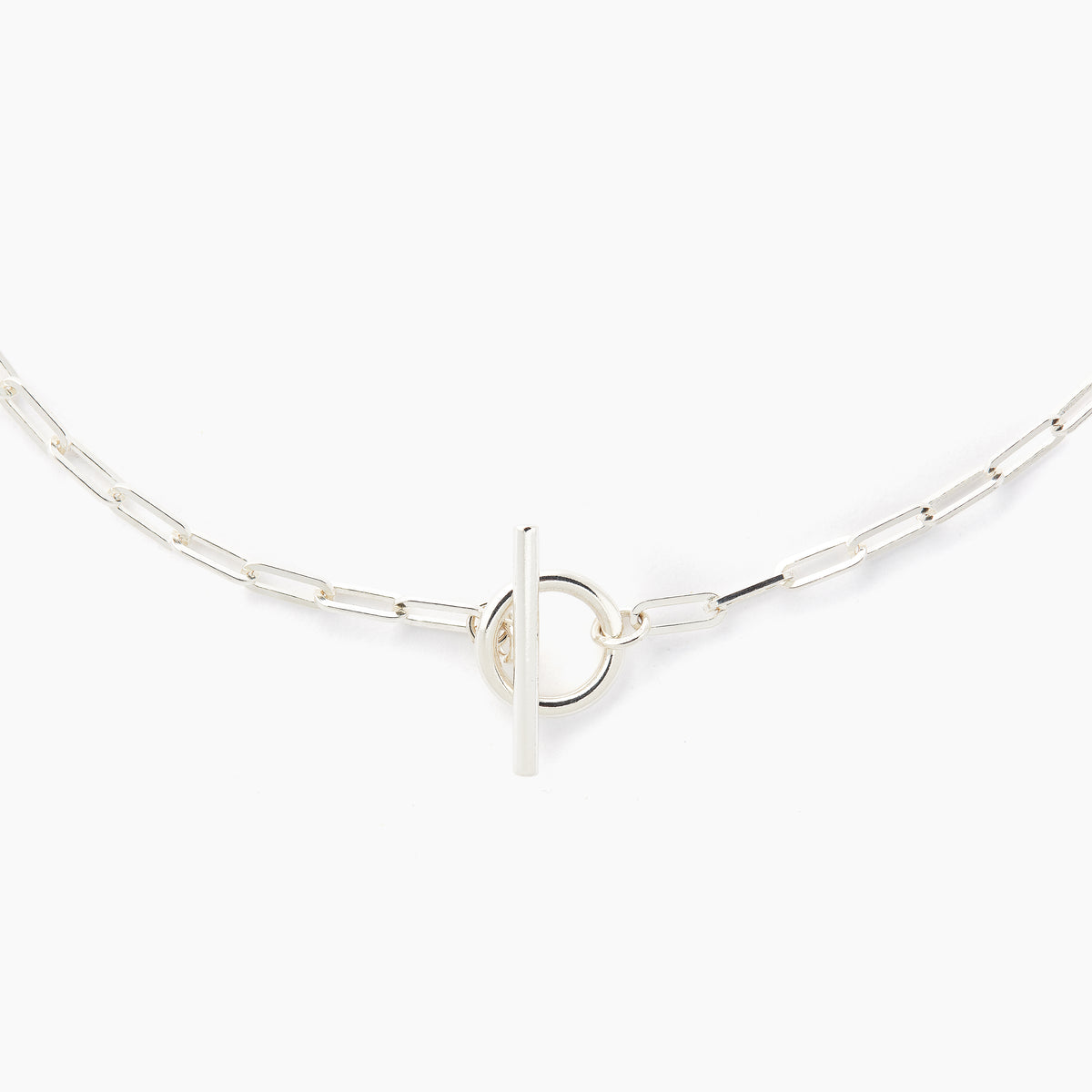 Silver Love Link Necklace