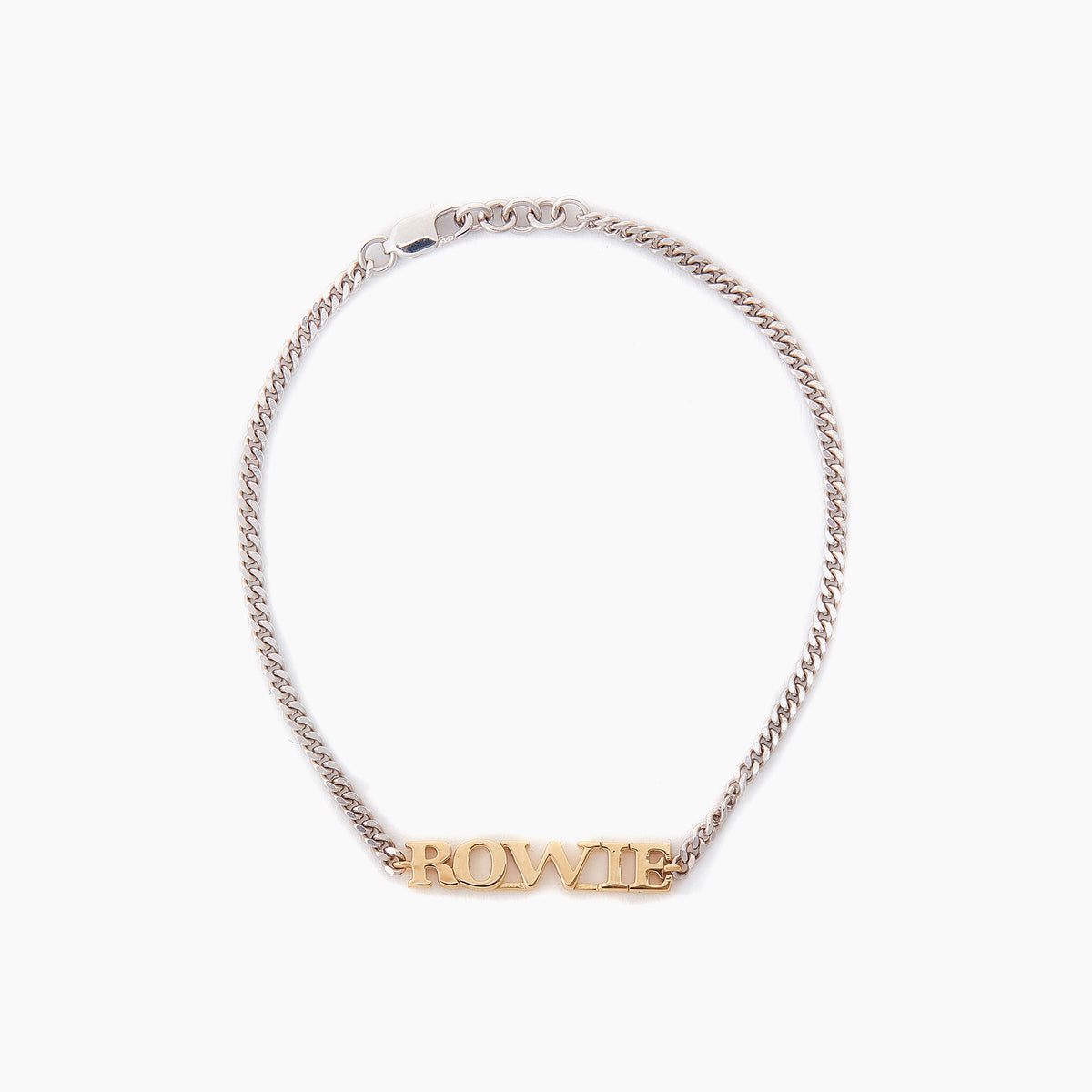 Personalised Name Bracelet (9k Yellow Gold and Sterling Silver)